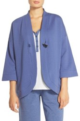Carole Hochman Quilted Wrap Robe Blue