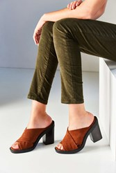 Urban Outfitters Laura Cross Strap Mule Brown