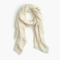 J.Crew Speckled Scarf Ivory Multi