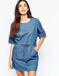 Goldie Symetry Denim Dress Blue