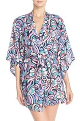 Josie 'Groovy Ribbons' Happi Coat Robe Blue