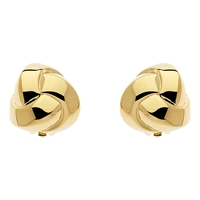 Finesse Knot Gold Plated Stud Earrings Gold