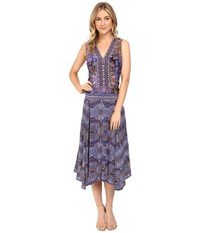 Nanette Lepore Kilim Maxi Lilac Multi Women's Dress Purple