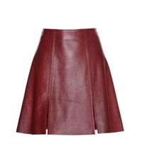 Acne Studios Leala Leather Skirt Red