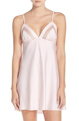 Kate Spade Women's New York Mesh Trim Charmeuse Chemise Pastry Pink