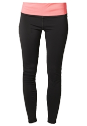 Drop Of Mindfulness Bow Tights Grey Coral Black