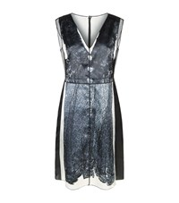 Marc Jacobs Lace Print Dress Female Silver