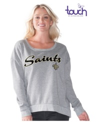 G3 Sports Women's New Orleans Saints Embrace Sweatshirt Gray