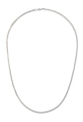 Forever 21 Box Chain Necklace Silver