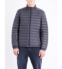 Tommy Hilfiger Stand Collar Quilted Shell Jacket Dark Shadow Pt