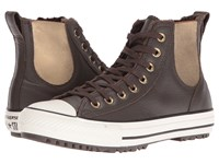 Converse Chuck Taylor All Star Leather Fur Chelsea Boot Hot Cocoa Black Egret Women's Shoes Brown