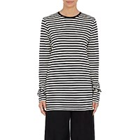 Marc Jacobs Women's Striped Long Sleeve T Shirt No Color
