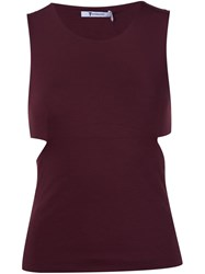 Alexander Wang T By Cut Out Back Tank Top Red