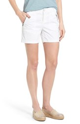 Women's Caslon 'Addison' Zip Pocket Shorts White