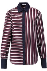 Carven Striped Cotton Shirt Claret