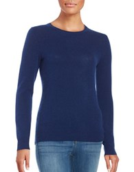 Lord And Taylor Basic Crewneck Cashmere Sweater Navy Night