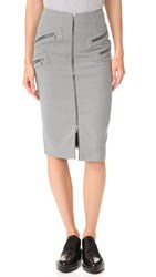 Thierry Mugler Pencil Skirt Navy Off White