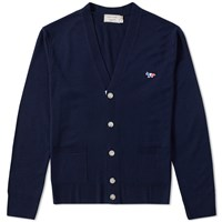 Maison Kitsune Virgin Wool Classic Cardigan Blue