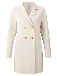 Jigsaw Double Faced Coat French Clay