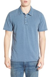 Men's Threads For Thought 'Blake' Washed Organic Cotton Blend Polo China Blue