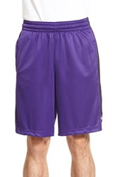 Men's Nike 'Elite Stripe' Basketball Shorts Court Purple Black White