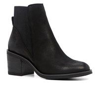 Aldo Boscara Stacked Heel Ankle Boots Black
