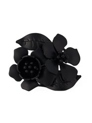 Valentino Garavani Flower Ring Black