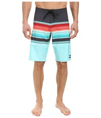 Billabong All Day Stripe 21 Boardshorts Aqua Men's Swimwear Blue