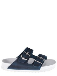 Birkenstock Muff Arizona Silver Anchor Slide Sandals