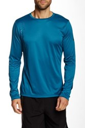Asics Printed Long Sleeve Top Blue
