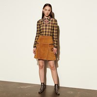 Coach A Line Skirt With Studs Brown