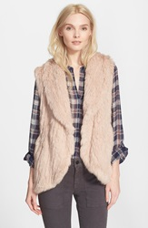 Joie 'Amery' Genuine Rabbit Fur Vest Blush