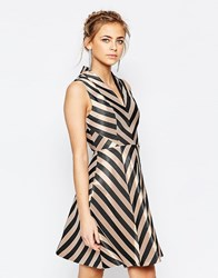 Oasis Stripe Fit And Flare Dress Multi