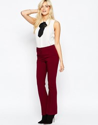 Oasis Crepe Bootcut Trouser Wine