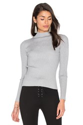 Glamorous Turtleneck Top Gray