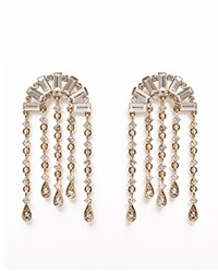 Juliet And Company Del Half Moon Drop Earrings Compare At 68 Crystal Gold