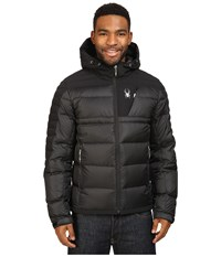 Spyder Bernese Down Jacket Black Black Black Men's Coat