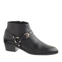 J.Crew Remi Harness Ankle Boots Black