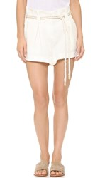 L'agence Edie Paper Bag Shorts Ivory