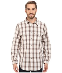 Filson Twin Lakes Sport Shirt Brown Stucco Men's Clothing