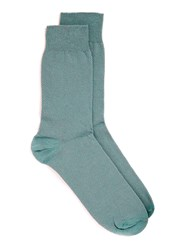 Topman Teal Textured Socks