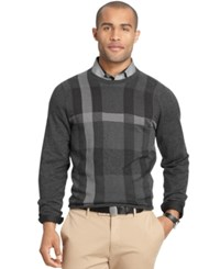 Van Heusen Big And Tall Plaid Sweater Grey Multi