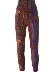 Romeo Gigli Vintage High Waisted Leggings Multicolour