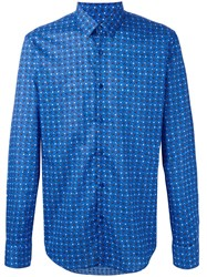 Fendi Bag Bugs Shirt Blue