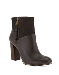 Elliott Lucca Dafne Leather Booties Dark Brown
