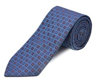 Double Two Polyester Tie Lilac