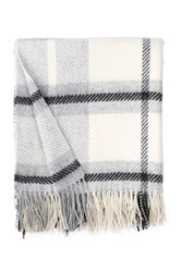 Amicale Window Pane Throw Gray