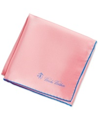 Brooks Brothers Solid Pocket Square Pink