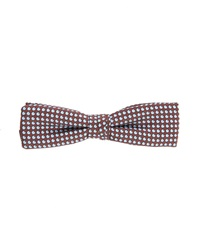 Scotch And Soda Sky Blue Brown Micro Pattern Bow Tie