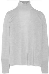 Dion Lee Cutout Back Wool Sweater Gray